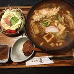 亀 - 料理写真:デラックス味噌煮込みうどん