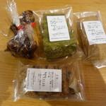 マメトコナ - 料理写真:アーモンドのキャラメリゼ?×2 抹茶、黒糖レーズン、米粉きな粉