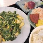名護そば まきし食堂 - ゴーヤーチャンプルー定食