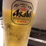 魚がし日本一 - にぎり晩酌セットの生ビール