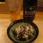 鍋屋横丁 孝 - ふぐ皮ポン酢とホッピー