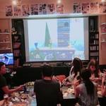 放課後駄菓子バーAー55 京都四条河原町店  - 大画面のプロジェクターで隣の方と仲良くゲームをする事もあります!