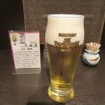 鴨亭 - ランチビール