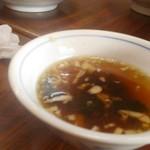 しょうちゃん食堂 - チャーハン付属のスープ