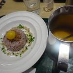 T's たんたん - スープをかける前