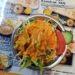 ナマステ タージマハル - ファーストサーブのサラダ