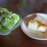 ツルカメ食堂 - セットのサラダパン