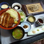 鈴庵 - ミニソースかつ丼セット(ロースへ変更・1,100円)