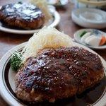 とんかつ 五郎十 - 料理写真:五郎十 特大ミンチ生姜焼き定食