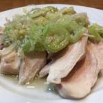 口福館 - 蒸し鶏の冷菜