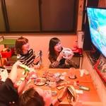放課後駄菓子バーAー55 京都四条河原町店  - 掘りごたつの右側のお席ではWIIUが遊べます♪ 皆でマリカーは盛り上がる!!