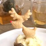 ボタニストカフェ - クリスマスプレートのトナカイのパイ