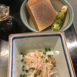 蕎麦屋 籔半 - とりわさ500円