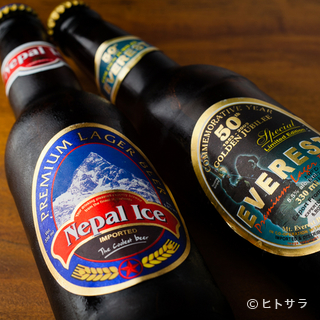 『エベレスト』と『ネパールアイス』の2種類のビール