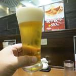 広東炒麺 南国酒家 - 生ビール(中)550円