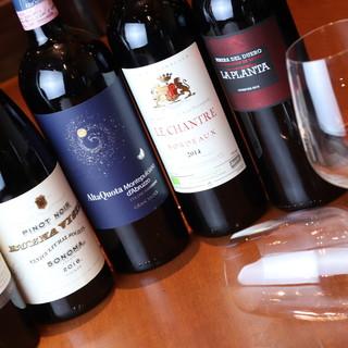 ビストロ料理とバッチリ☆種類豊富なワイン&カクテル♪