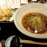さいさきや - 貝柱のかき揚げ蕎麦(温)980円
