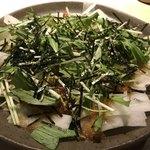 酒家鶏処 炭寅 - 大根のジャコ梅サラダ