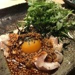 酒家鶏処 炭寅 - 鶏のタタキ
