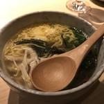 酒家鶏処 炭寅 - スープで食べる鶏茶漬け