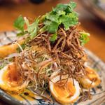 酒とタイ料理 ピッサヌローク - 2017.12 カイルークイー(揚げ卵のタマリンドソースサラダ)