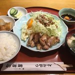 百万石 - ぷるぷる定食(800円)の小ライス(−50円)