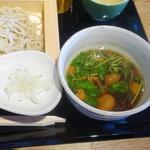 SOBA&SAKE八福寿家 - ざく切り鴨汁蕎麦(980円)