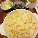 Cafeひので - エビピラフランチセット 770円