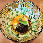 祇園もりわき - チュルっとして美味しい『柚子胡麻豆腐の雲丹といくらがけ』~♪(* ̄∇ ̄)ノ