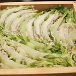 豚しゃぶ せいろ蒸し専門店 豚匠 北浜邸 - 桜ポークと白菜のミルフィーユ御膳