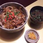 秋田温泉プラザ - 桃豚の豚丼¥690