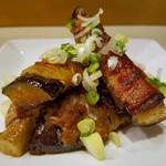 居酒屋 あがん - 料理写真:茄子の肉巻き