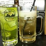 77589333 - ホッピーと緑茶ハイで乾杯!