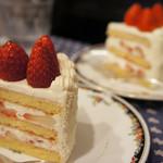 77591840 - 2つのケーキを食べ比べ