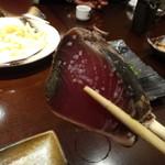 お酒と料理の心 - 2)土佐かつお藁焼塩たたき