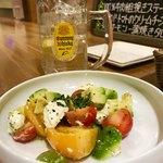 SUSHI BAR SAMURAI - アボカド・トマト・クリームチーズサラダ 600円