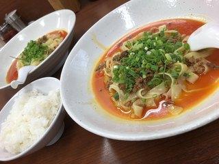 杏亭 - 汁なし担々麺&ライス