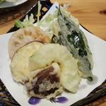 あかめ寿司 - 加賀野菜の天麩羅