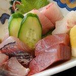 道の駅 宍喰温泉 レストラン アリタリア - 刺身のアップ