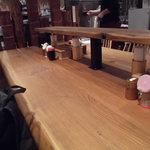 釜たけうどん - テーブル