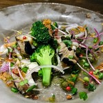 77604317 - 【ランチコース】前菜:貝とカラスミのマリネ