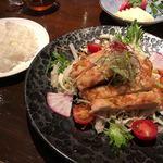 夕日ヶ丘レストラン善生 - 道産鶏肉の唐揚げユーリンチソース  1000円
