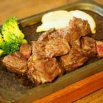 ジーニーズ - 牛ハラミステーキ    火加減も味も最高です。絶対オススメです。