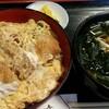 八幸 - 料理写真:カツ丼と、ミニうどん(+200円)