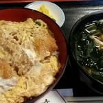 77608496 - カツ丼と、ミニうどん(+200円)