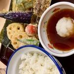 さん天 - 野菜天定食