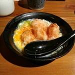 蕎野 - 鶏天ぷら玉子とじ