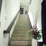 完全個室 和創作ダイニング 六 - 店は階段を上がって2階にあるのですが、その階段のきらびやかな事!!