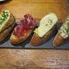 ドノスティア - 料理写真:ピンチョス:生ハムとトマト アンチョビとポテサラ オムレツとモッツァレラ オムレツとラタトゥイユ