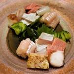 美酒美肴 はまゐ - 料理写真:刺し身盛り合わせ 2,000円  × 二人前